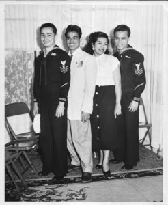 A militaary Filipino American family.