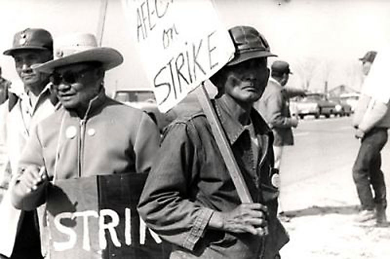 Filipino farmworkers were the first to walk out of vineyards in 1965, prompting the Delano Grape Strike and, ultimately, the formation of the United Farm Workers along with Mexican farmworkers led by Cesar Chavez. (Farmworker Movement Documentation Project/UC San Diego Library)